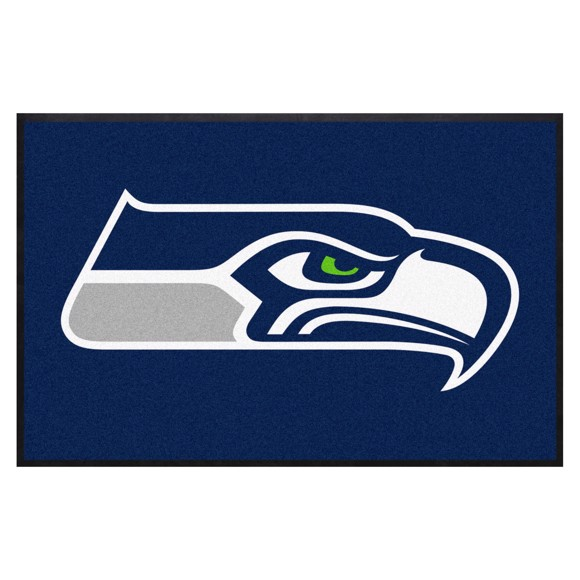 Picture of Seattle Seahawks 4X6 High-Traffic Mat with Durable Rubber Backing