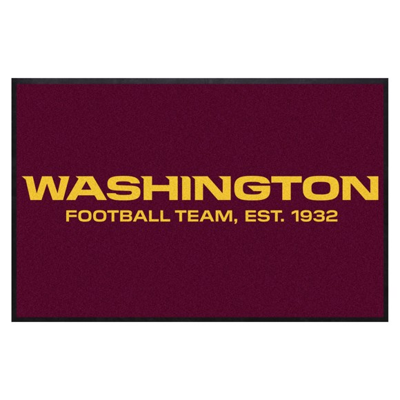 Picture of Washington Football Team 4X6 High-Traffic Mat with Durable Rubber Backing