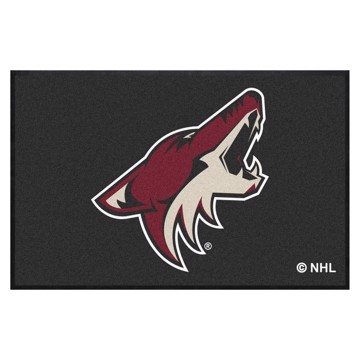 Picture of Arizona Coyotes 4X6 High-Traffic Mat with Durable Rubber Backing