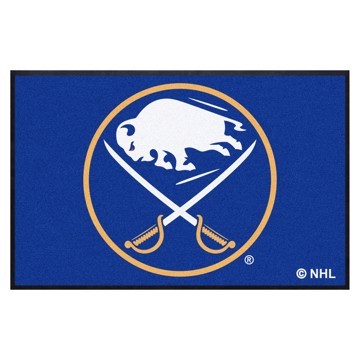 Picture of Buffalo Sabres 4X6 High-Traffic Mat with Durable Rubber Backing