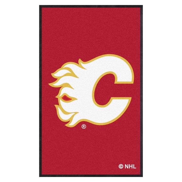 Picture of Calgary Flames 3X5 High-Traffic Mat with Durable Rubber Backing