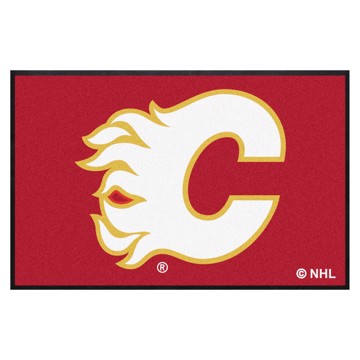 Picture of Calgary Flames 4X6 High-Traffic Mat with Durable Rubber Backing