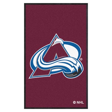 Picture of Colorado Avalanche 3X5 High-Traffic Mat with Durable Rubber Backing