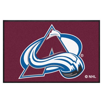 Picture of Colorado Avalanche 4X6 High-Traffic Mat with Durable Rubber Backing