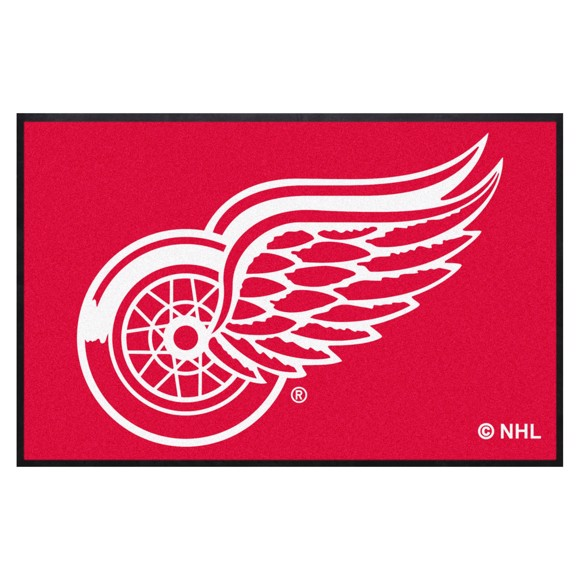 Picture of Detroit Red Wings 4X6 High-Traffic Mat with Durable Rubber Backing