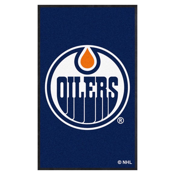Picture of Edmonton Oilers 3X5 High-Traffic Mat with Durable Rubber Backing