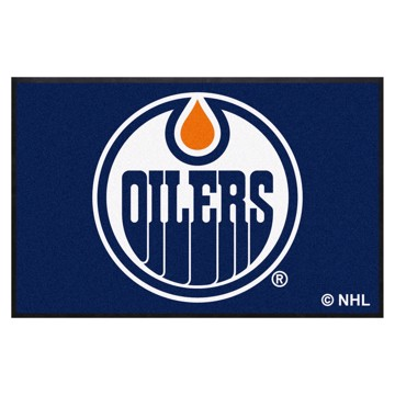 Picture of Edmonton Oilers 4X6 High-Traffic Mat with Durable Rubber Backing