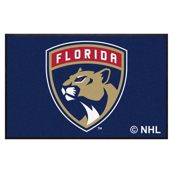 Picture of Florida Panthers 4X6 High-Traffic Mat with Durable Rubber Backing