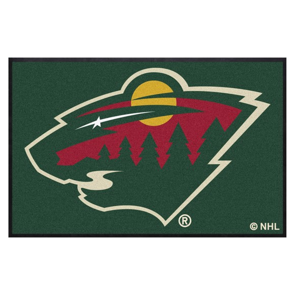Picture of Minnesota Wild 4X6 High-Traffic Mat with Durable Rubber Backing