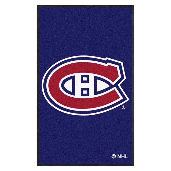 Picture of Montreal Canadiens 3X5 High-Traffic Mat with Durable Rubber Backing