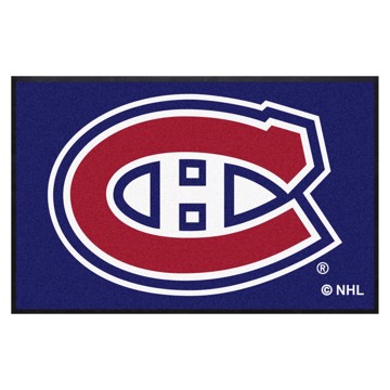 Picture of Montreal Canadiens 4X6 High-Traffic Mat with Durable Rubber Backing