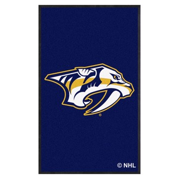 Picture of Nashville Predators 3X5 High-Traffic Mat with Durable Rubber Backing