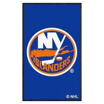 Picture of New York Islanders 3X5 High-Traffic Mat with Durable Rubber Backing