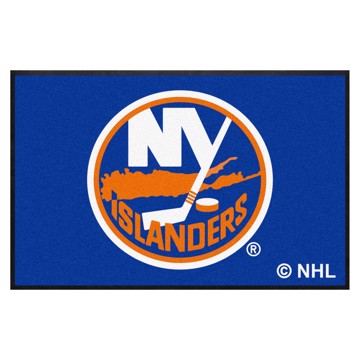 Picture of New York Islanders 4X6 High-Traffic Mat with Durable Rubber Backing