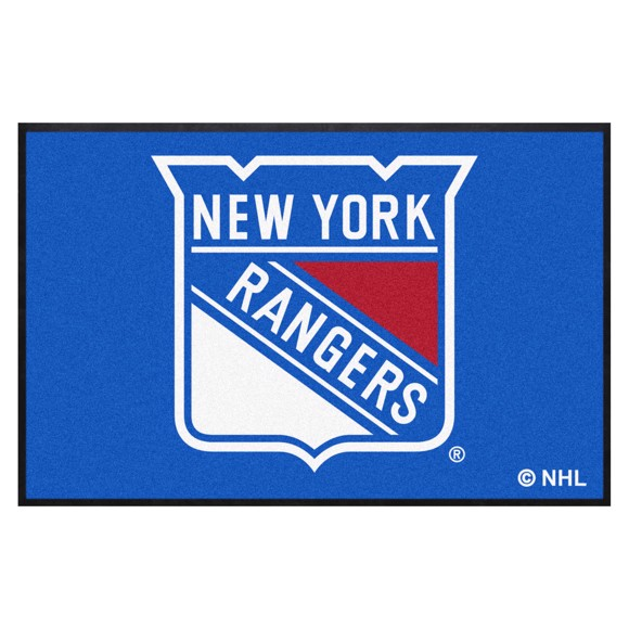 Picture of New York Rangers 4X6 High-Traffic Mat with Durable Rubber Backing