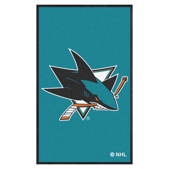 Picture of San Jose Sharks 3X5 High-Traffic Mat with Durable Rubber Backing