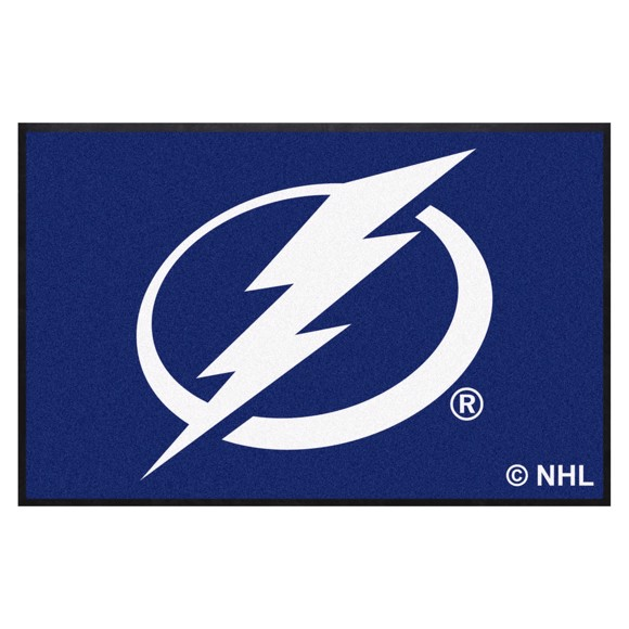 Picture of Tampa Bay Lightning 4X6 High-Traffic Mat with Durable Rubber Backing