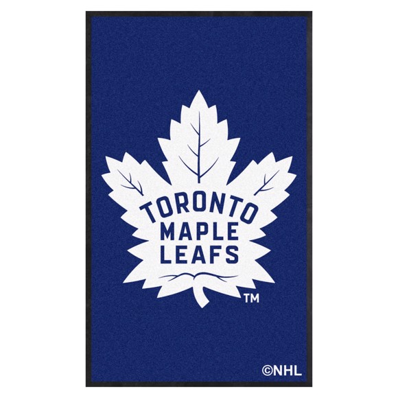 Picture of Toronto Maple Leafs 3X5 High-Traffic Mat with Durable Rubber Backing