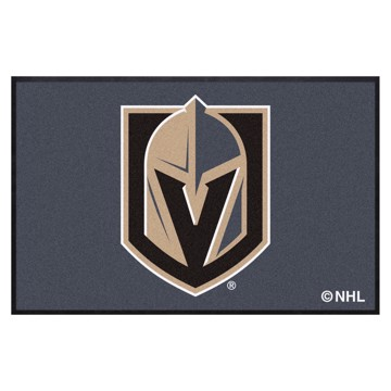 Picture of Vegas Golden Knights 4X6 High-Traffic Mat with Durable Rubber Backing