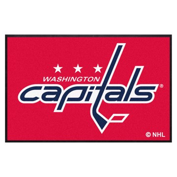 Picture of Washington Capitals 4X6 High-Traffic Mat with Durable Rubber Backing