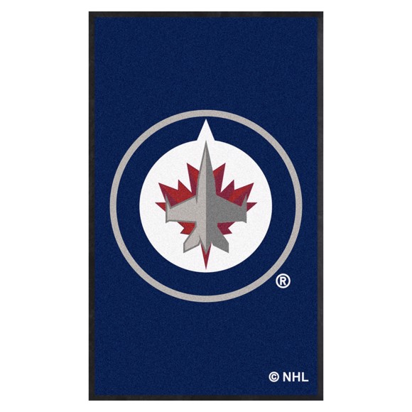 Picture of Winnipeg Jets 3X5 High-Traffic Mat with Durable Rubber Backing