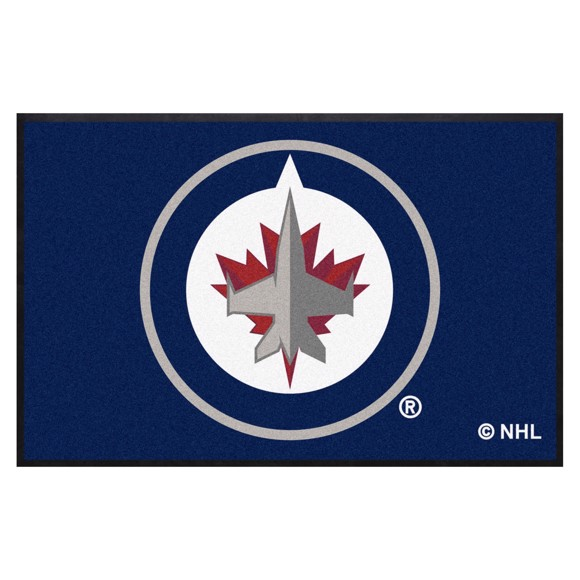 Picture of Winnipeg Jets 4X6 High-Traffic Mat with Durable Rubber Backing