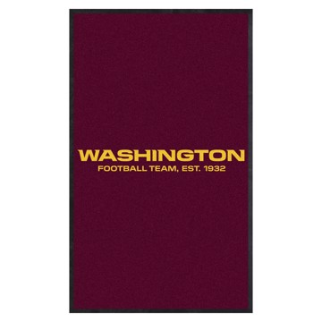 Picture of Washington Football Team 3X5 High-Traffic Mat with Durable Rubber Backing