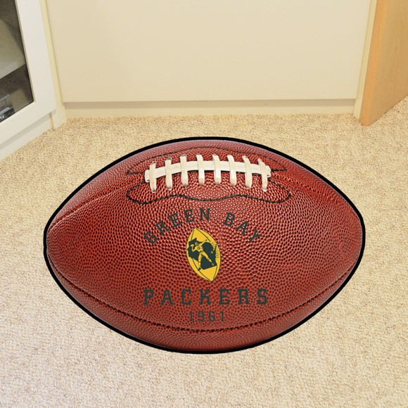 Picture of Green Bay Packers Football Mat - Vintage