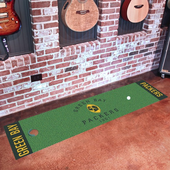 Picture of Green Bay Packers Putting Green Mat - Vintage