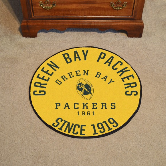 Picture of Green Bay Packers Roundel Mat - Vintage