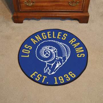 Picture of Los Angeles Rams Roundel Mat - Vintage