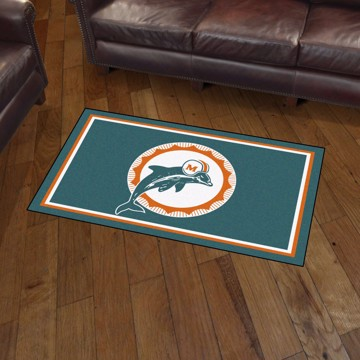 Picture of Miami Dolphins 3x5 Rug - Vintage
