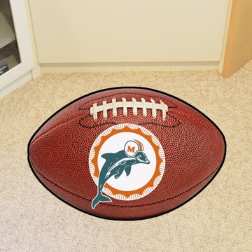 Picture of Miami Dolphins Football Mat - Vintage