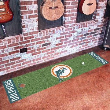 Picture of Miami Dolphins Putting Green Mat - Vintage