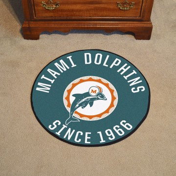 Picture of Miami Dolphins Roundel Mat - Vintage