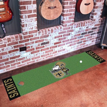 Picture of New Orleans Saints Putting Green Mat - Vintage