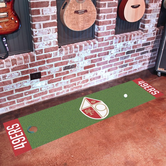 Picture of San Francisco 49ers Putting Green Mat - Vintage