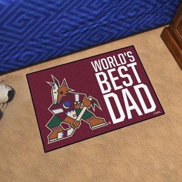 Picture of Arizona Coyotes Starter Mat - World's Best Dad