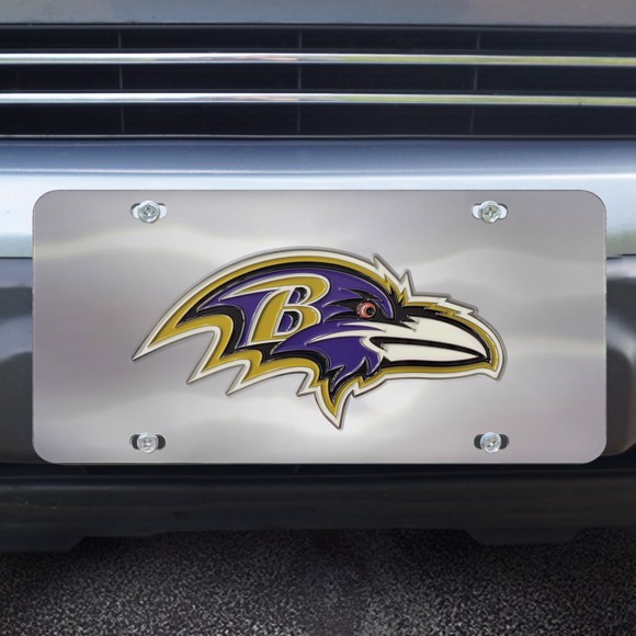 Picture of Baltimore Ravens Diecast License Plate