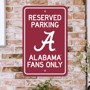 Picture of Alabama Crimson Tide Team Color Reserved Parking Sign Décor 18in. X 11.5in. Lightweight