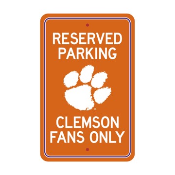 Picture of Clemson Tigers Team Color Reserved Parking Sign Décor 18in. X 11.5in. Lightweight
