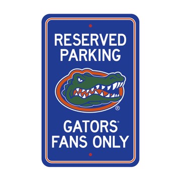 Picture of Florida Gators Team Color Reserved Parking Sign Décor 18in. X 11.5in. Lightweight
