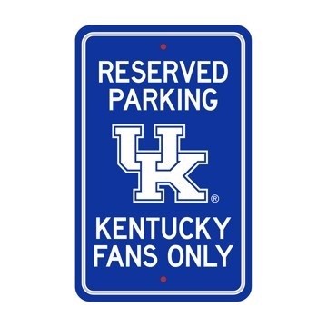 Picture of Kentucky Wildcats Team Color Reserved Parking Sign Décor 18in. X 11.5in. Lightweight