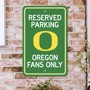 Picture of Oregon Ducks Team Color Reserved Parking Sign Décor 18in. X 11.5in. Lightweight