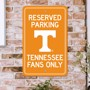 Picture of Tennessee Volunteers Team Color Reserved Parking Sign Décor 18in. X 11.5in. Lightweight