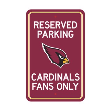 Picture of Arizona Cardinals Team Color Reserved Parking Sign Décor 18in. X 11.5in. Lightweight