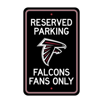 Picture of Atlanta Falcons Team Color Reserved Parking Sign Décor 18in. X 11.5in. Lightweight