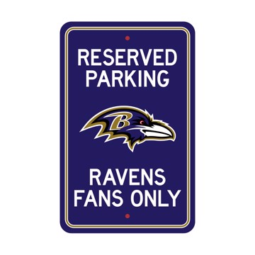 Picture of Baltimore Ravens Team Color Reserved Parking Sign Décor 18in. X 11.5in. Lightweight