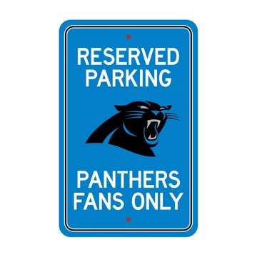 Picture of Carolina Panthers Team Color Reserved Parking Sign Décor 18in. X 11.5in. Lightweight