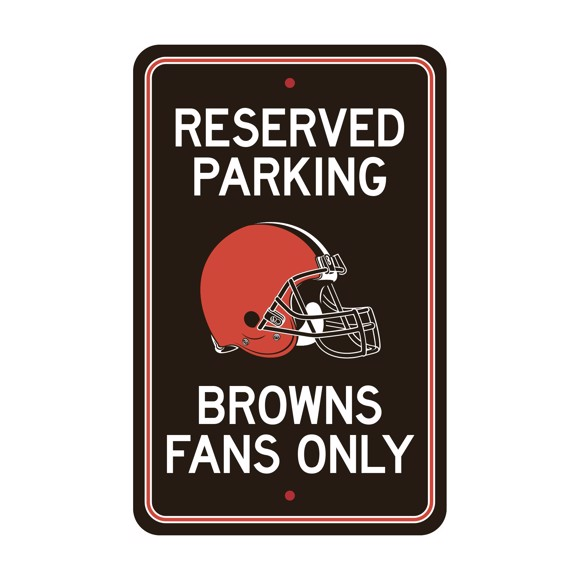 Picture of Cleveland Browns Team Color Reserved Parking Sign Décor 18in. X 11.5in. Lightweight